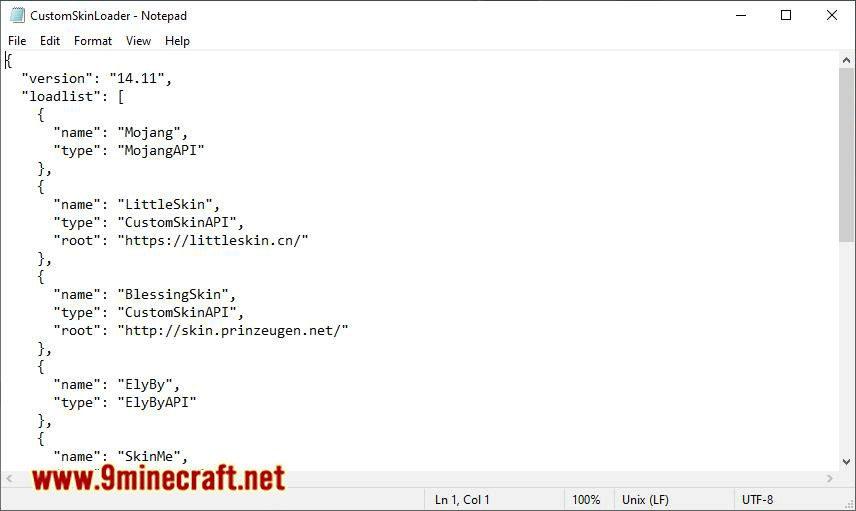 Custom Skin Loader mod for minecraft 04