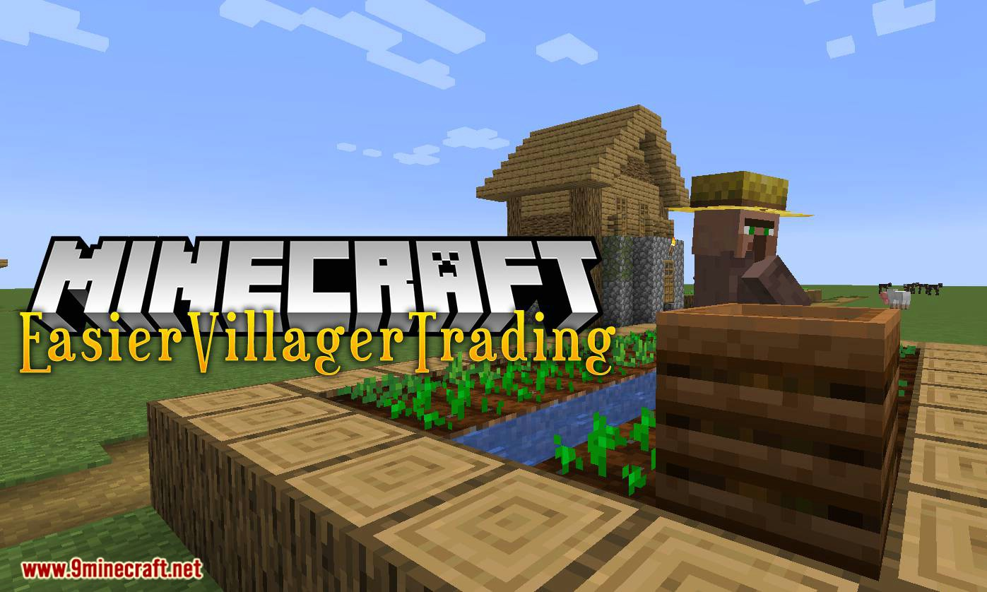 EasierVillagerTrading mod for minecraft logo