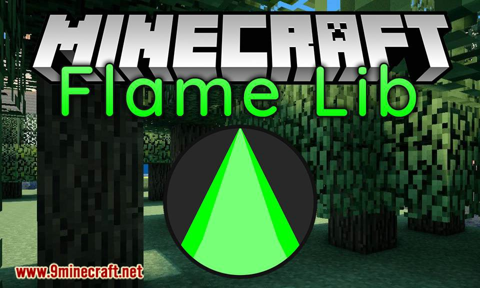 Flame Lib mod for minecraft logo