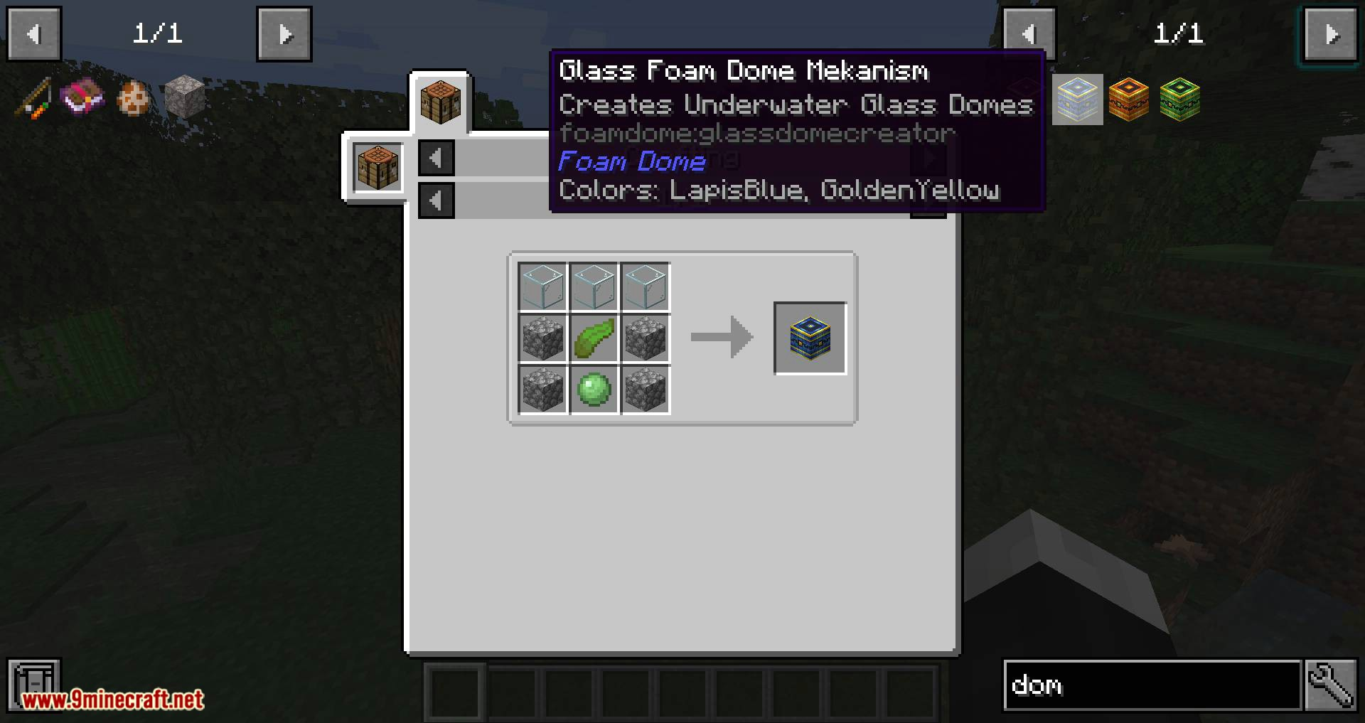 Foam Dome mod for minecraft 09