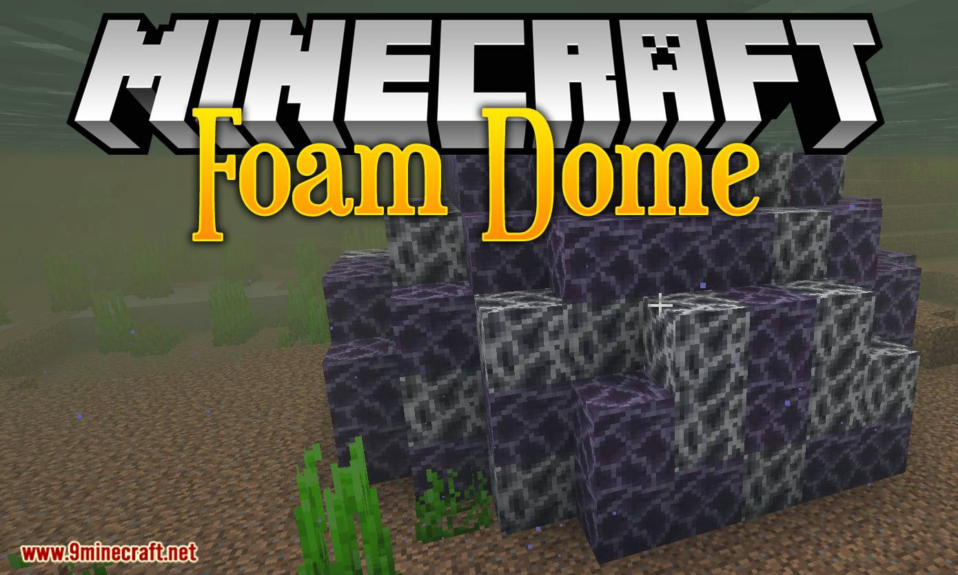 Foam Dome mod for minecraft logo