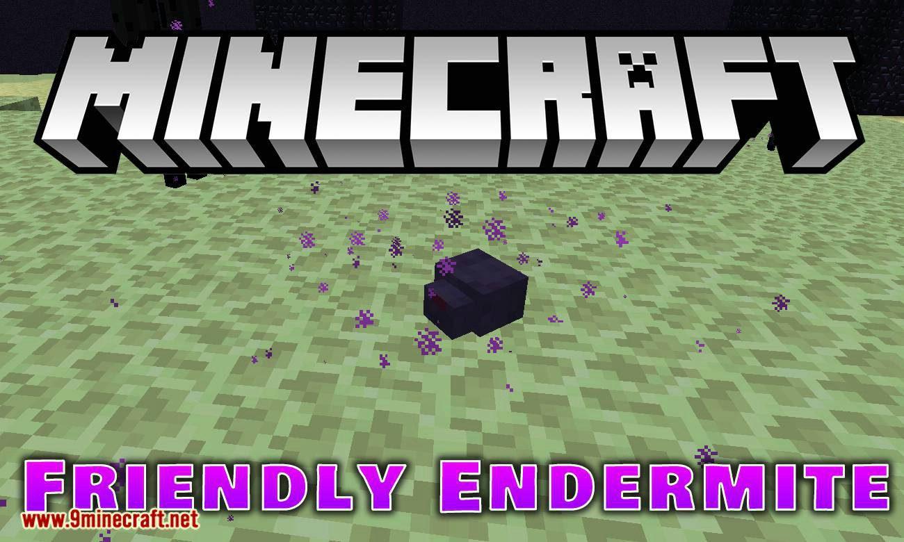 Friendly Endermite mod for minecraft logo