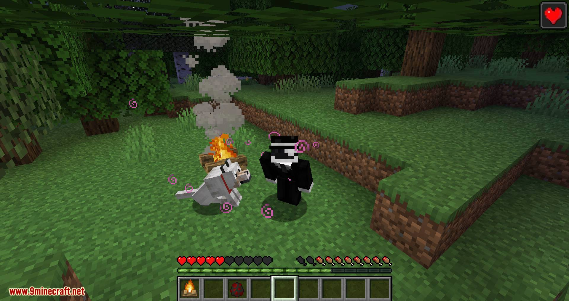 Healing Campfire mod for minecraft 01
