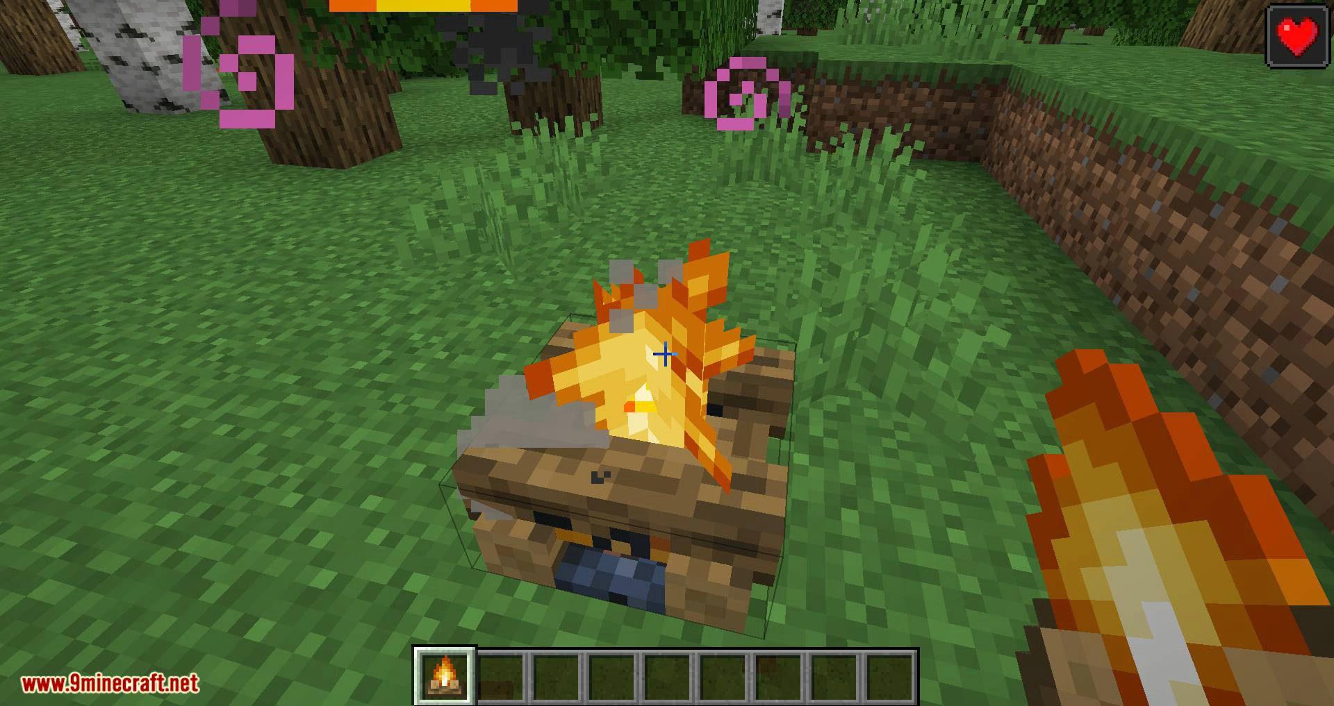 Healing Campfire mod for minecraft 04