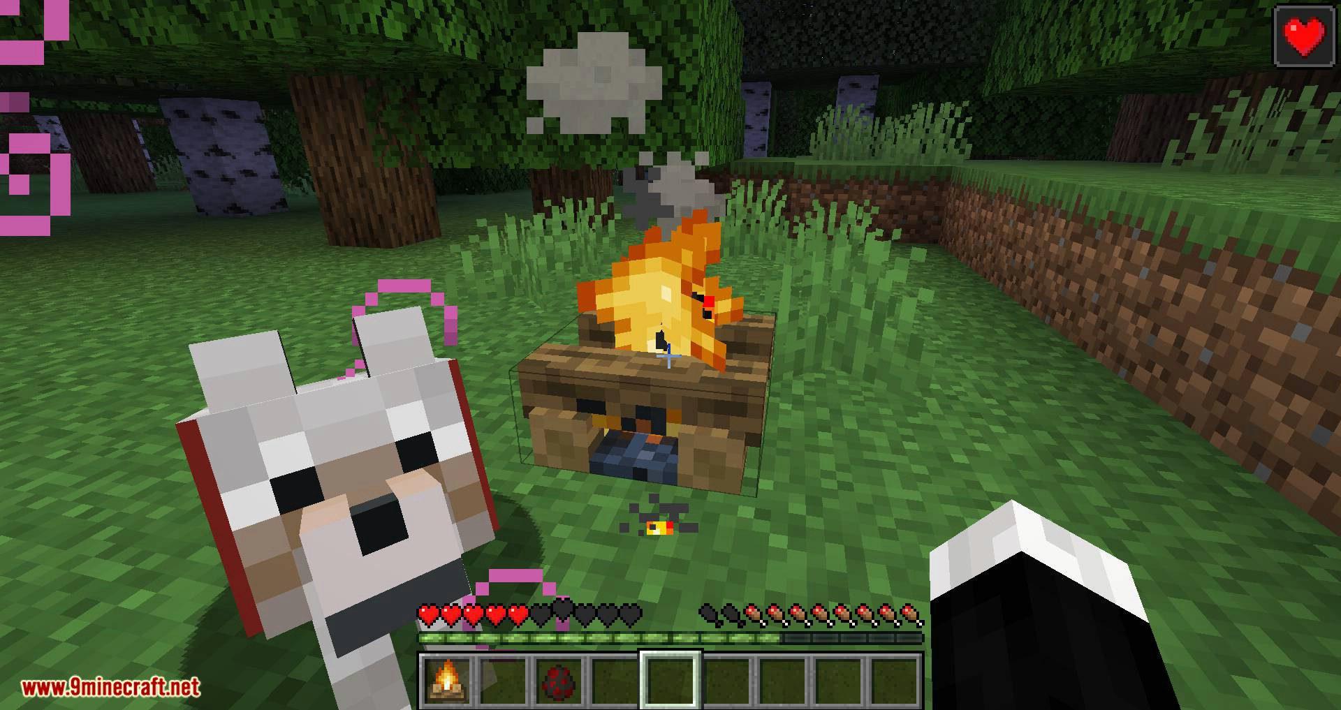 Healing Campfire mod for minecraft 10