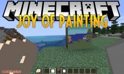 Joy of Painting mod for minecraft logo