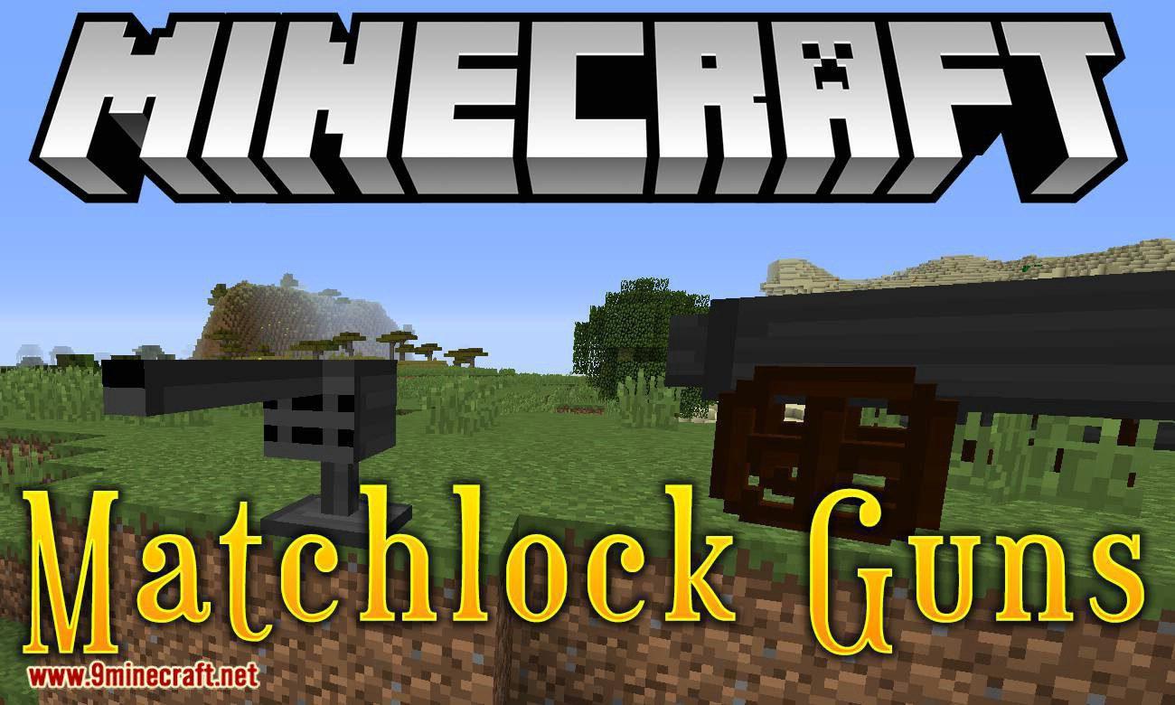 Matchlock Guns mod for minecraft logo