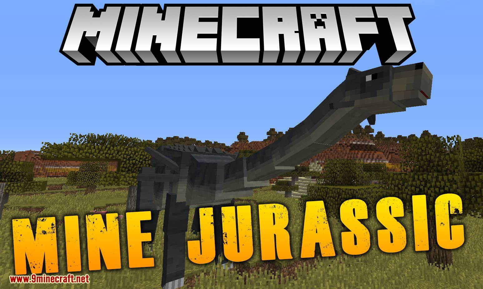 Mine Jurassic mod for minecraft logo