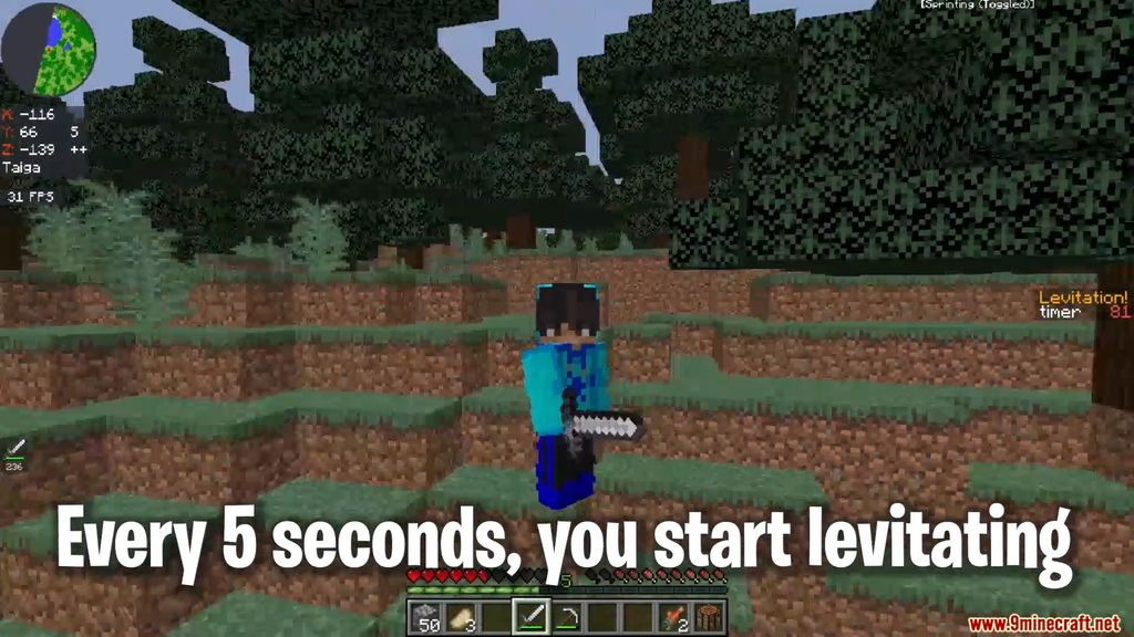 Minecraft BUT you levitate every 5 seconds Data Pack Screenshots (2)