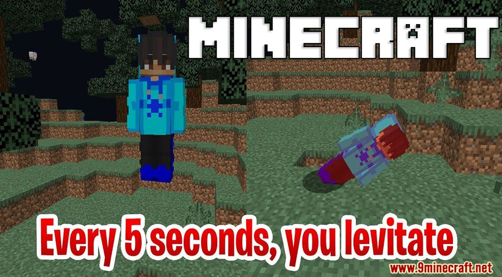Minecraft BUT you levitate every 5 seconds Data Pack Thumbnail