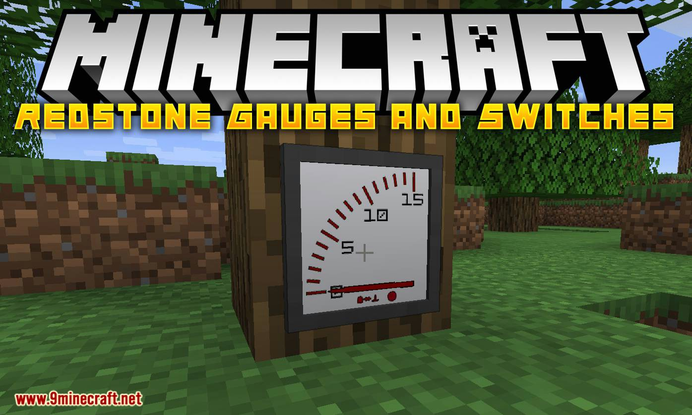 Redstone Gauges and Switches mod for minecraft logo