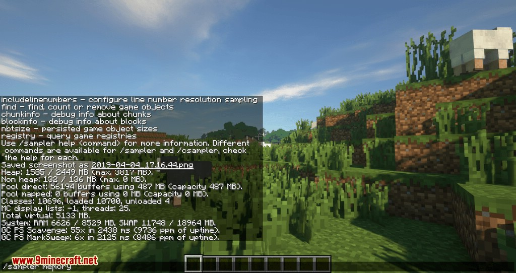 Sampler mod for minecraft 06