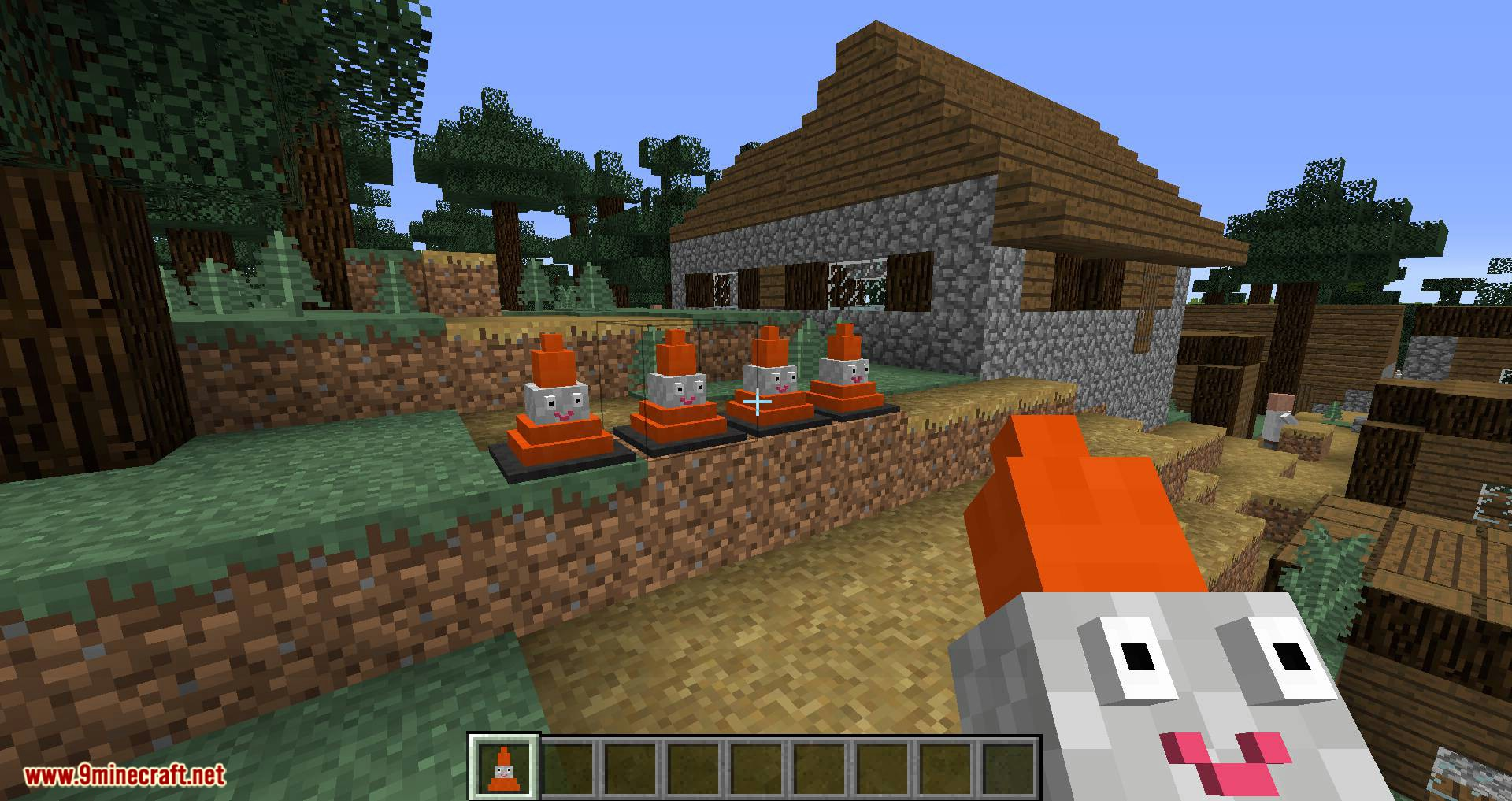 Smiley Traffic Cones mod for minecraft 01