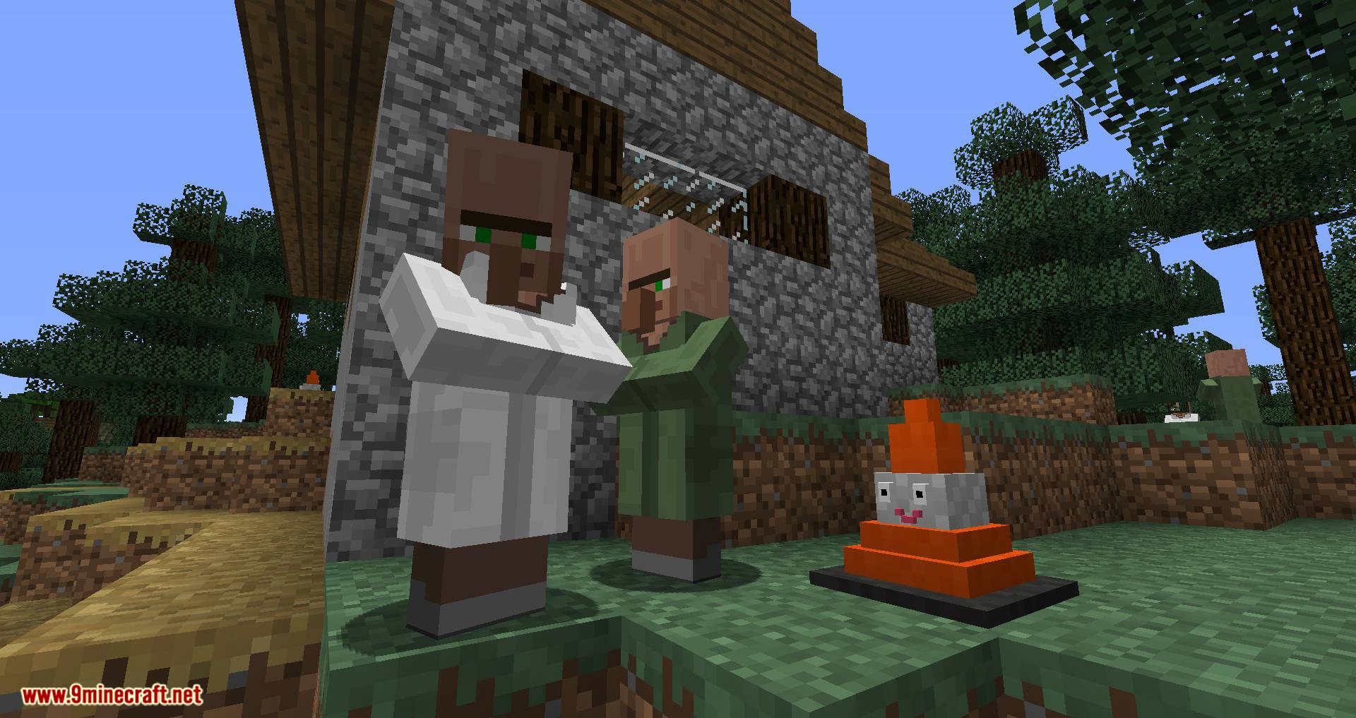 Smiley Traffic Cones mod for minecraft 02