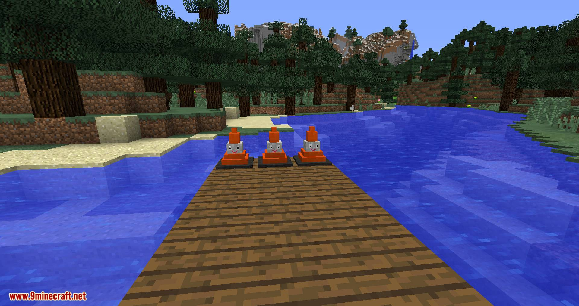 Smiley Traffic Cones mod for minecraft 03