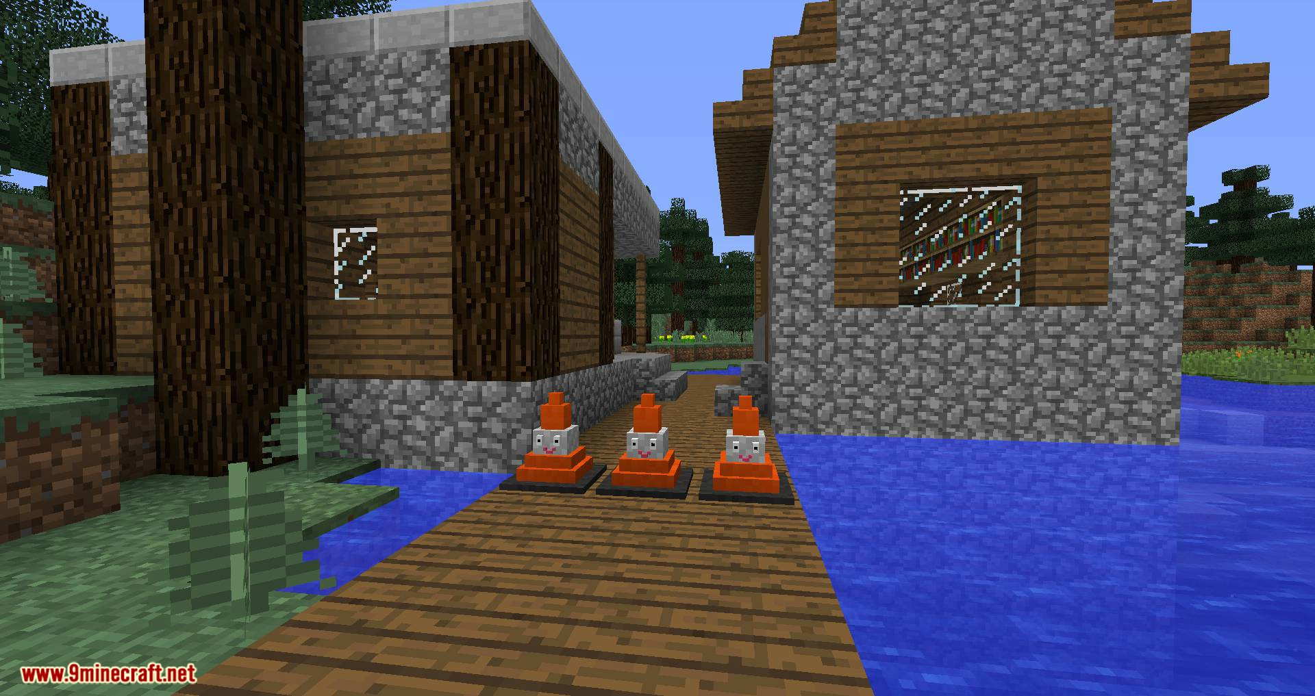 Smiley Traffic Cones mod for minecraft 04