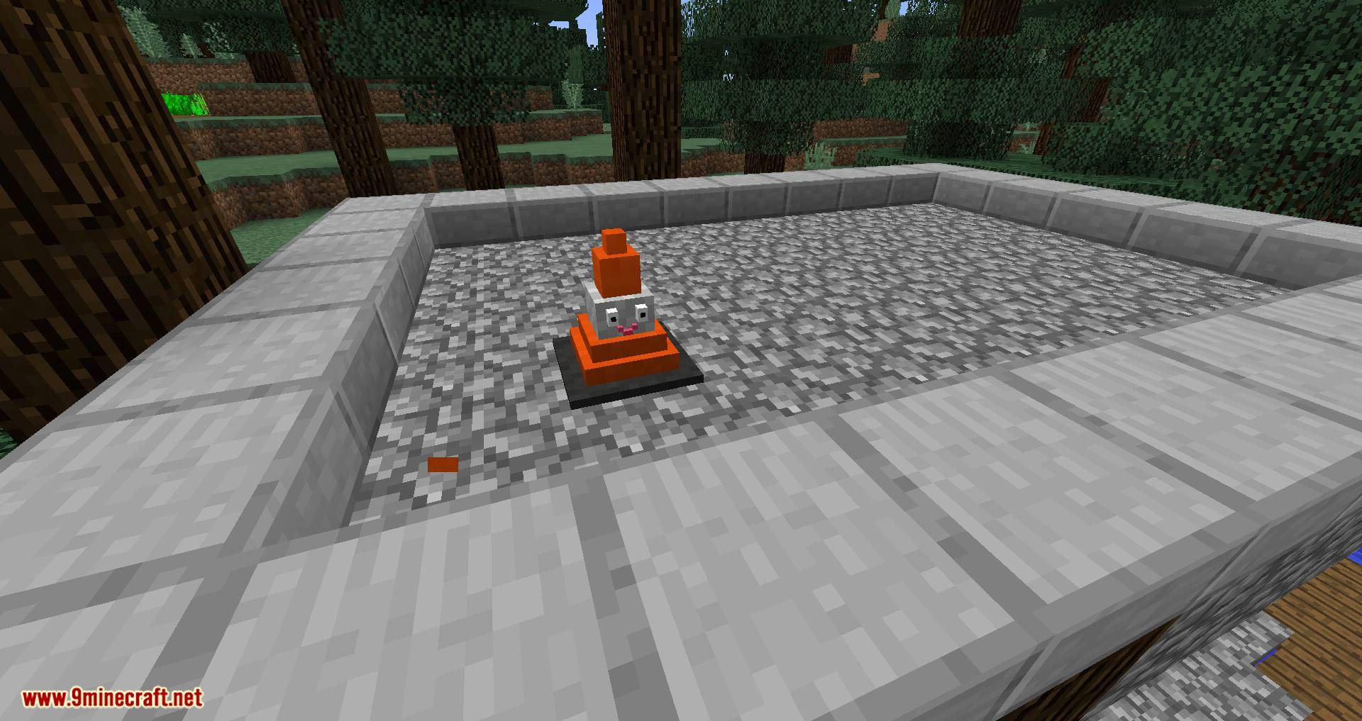 Smiley Traffic Cones mod for minecraft 05