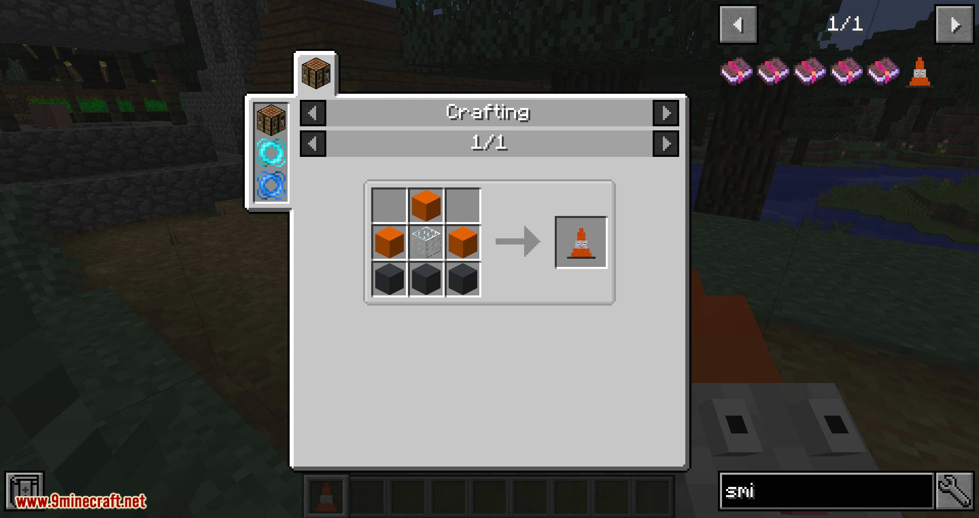 Smiley Traffic Cones mod for minecraft 09