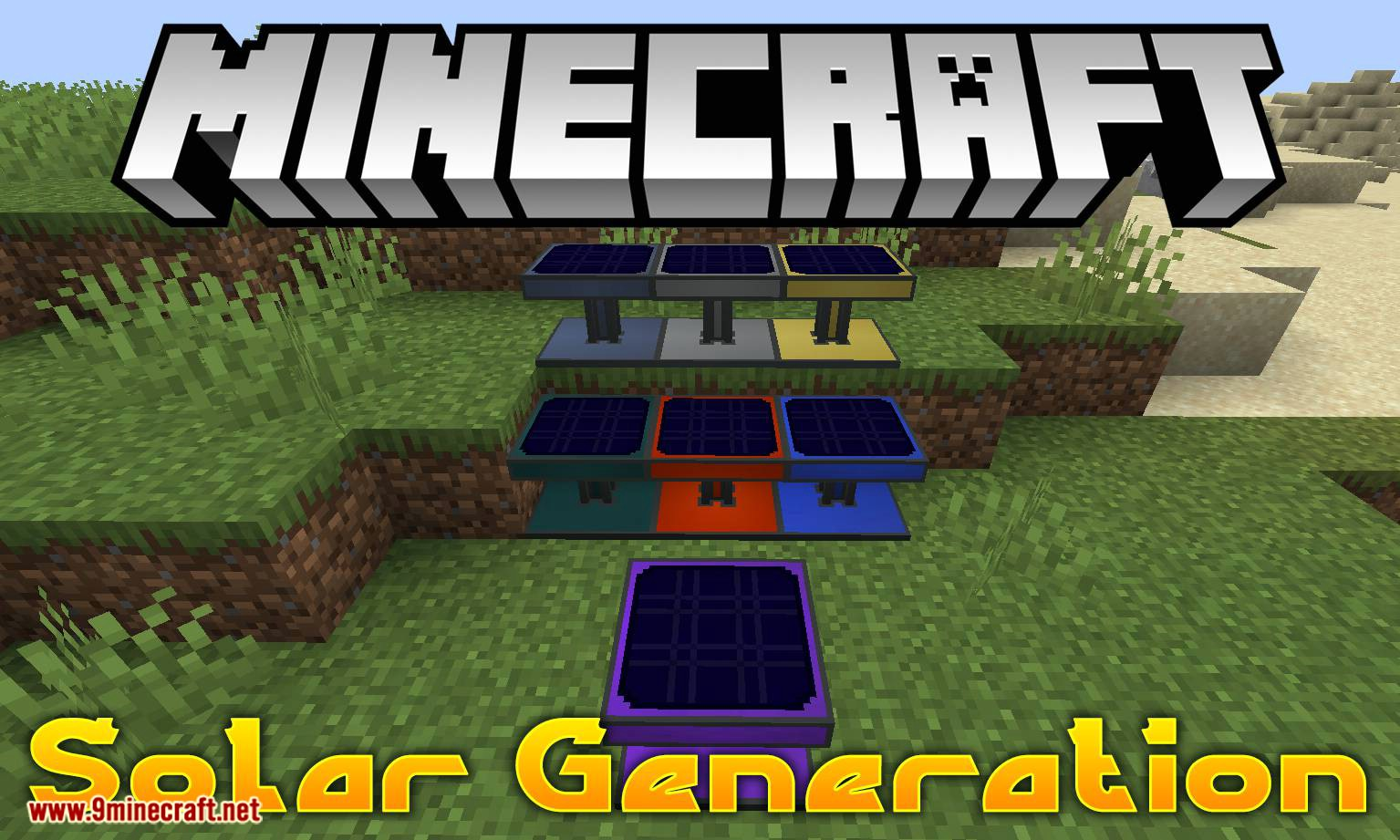 Solar Generation mod for minecraft logo