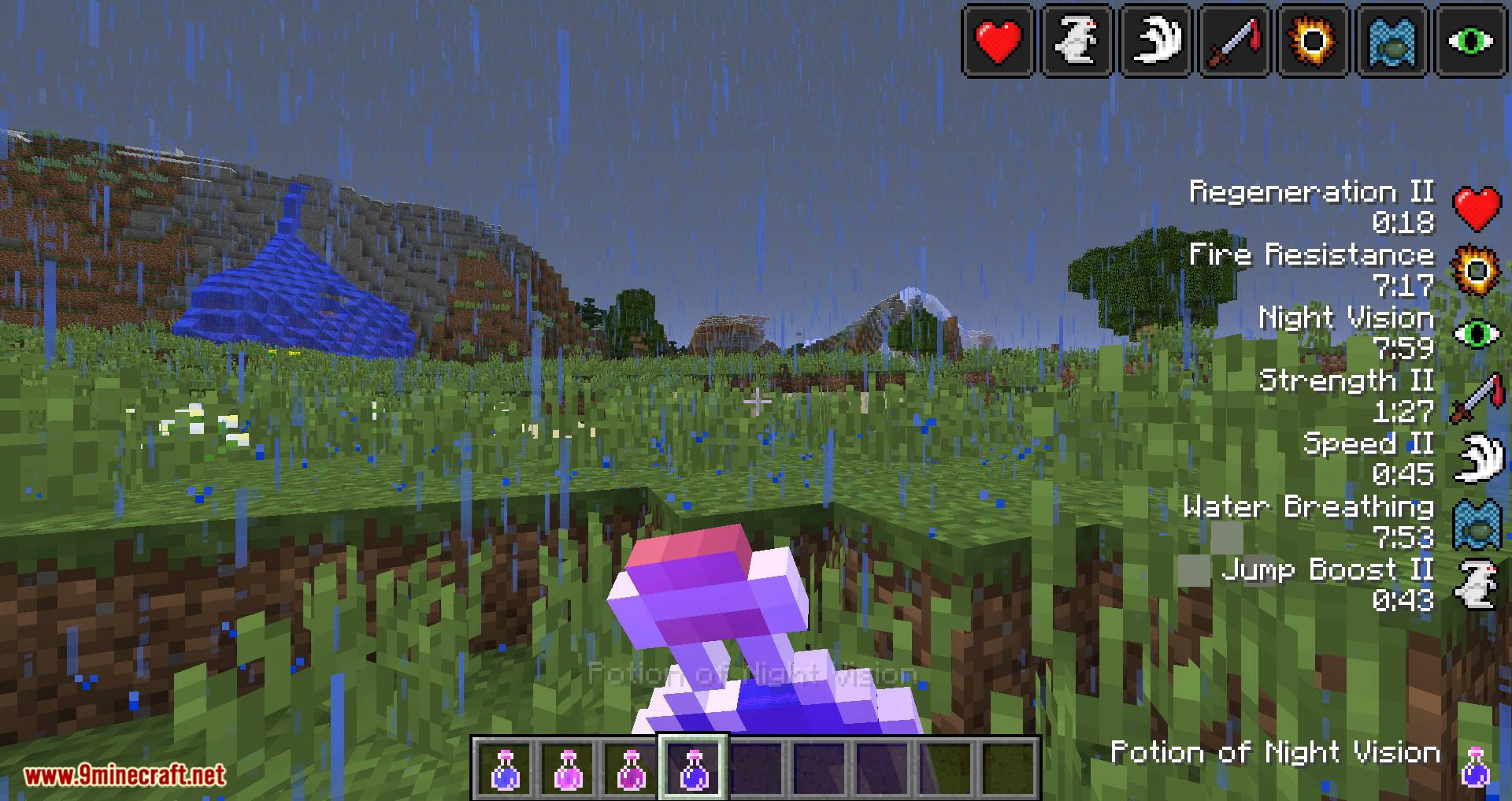 StatusEffectHUD Updated mod for minecraft 02