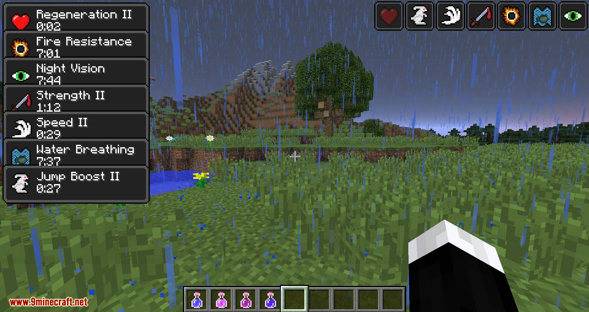 StatusEffectHUD Updated mod for minecraft 08