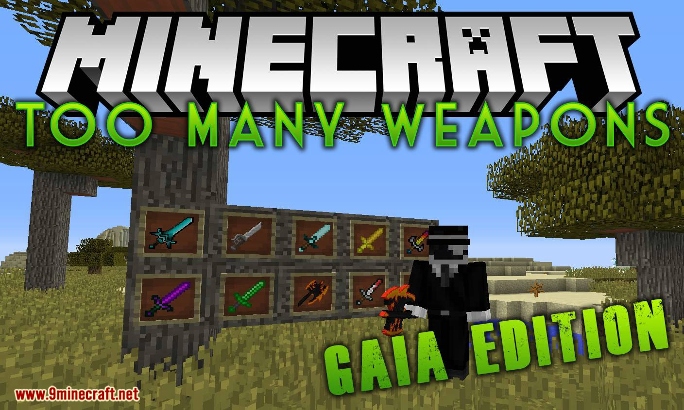 Too Many Weapons Gaia Edition mod for minecraft logo