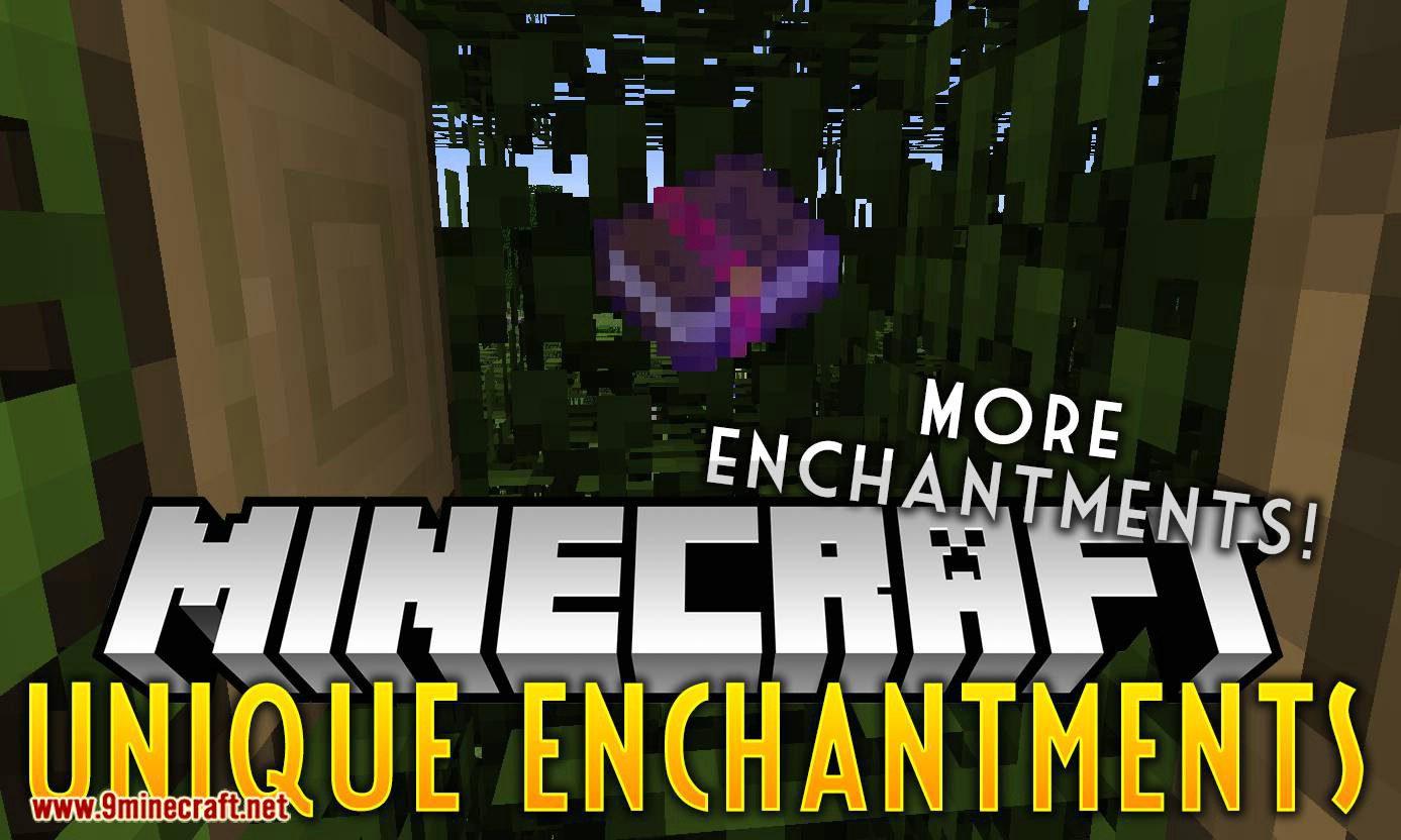 Unique Enchantments mod for minecraft logo