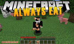 Always Eat mod for minecraft logo