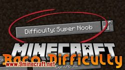 Baco Difficulty mod for minecraft logo