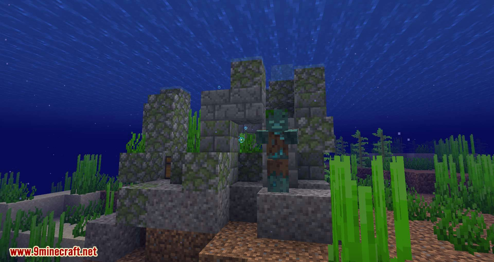Conduits Prevent Drowned mod for minecraft 01