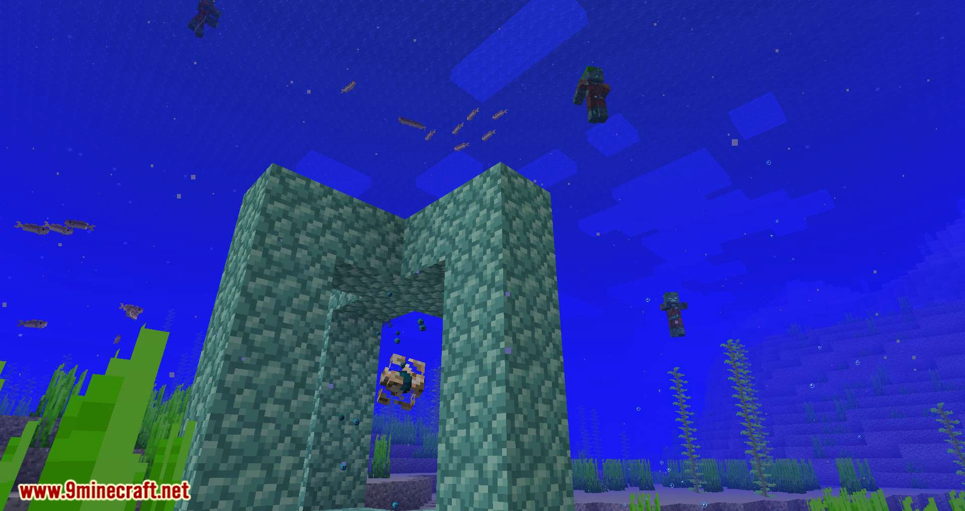 Conduits Prevent Drowned mod for minecraft 08