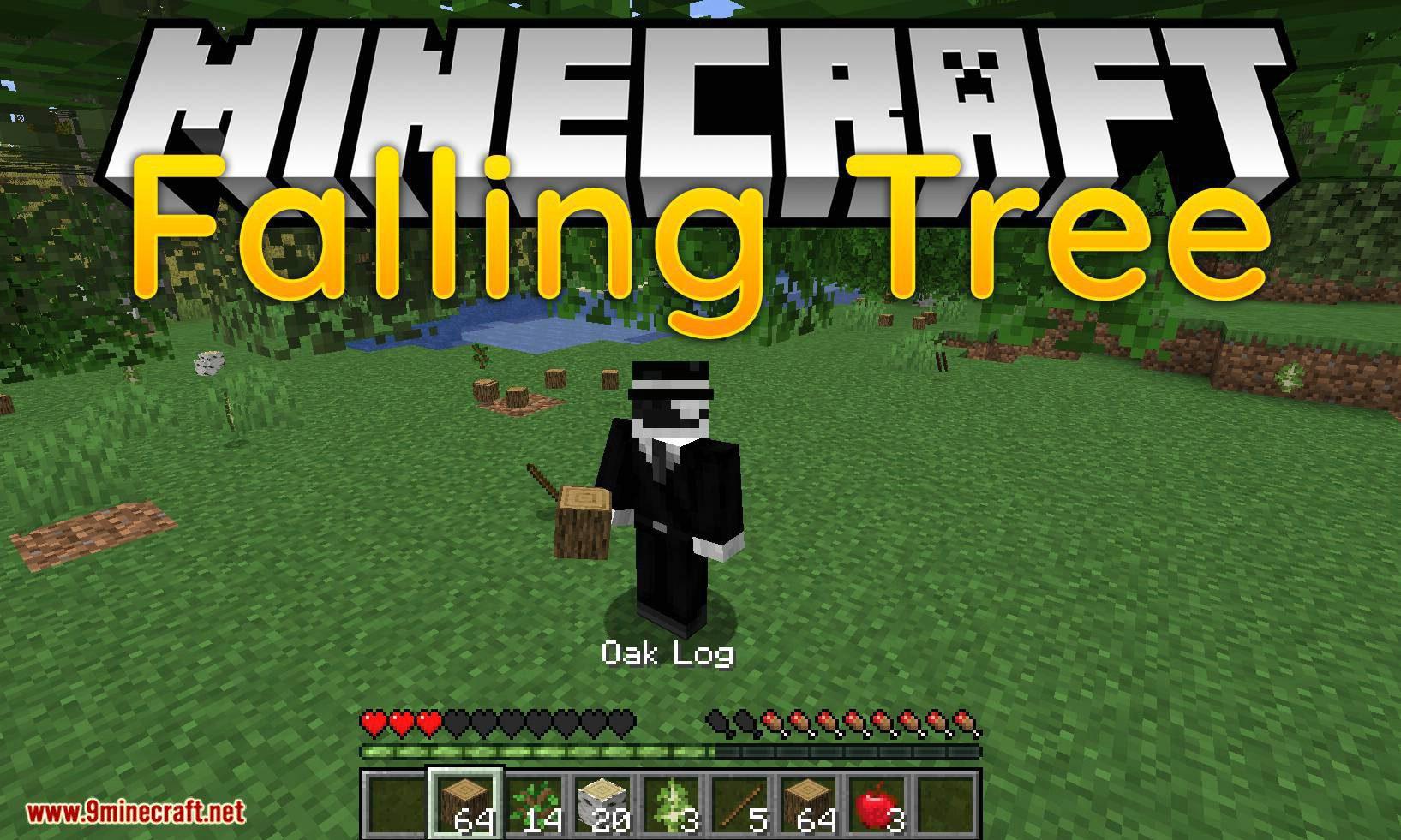 Falling Tree mod for minecraft logo
