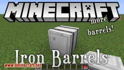 Iron Barrels mod for minecraft logo