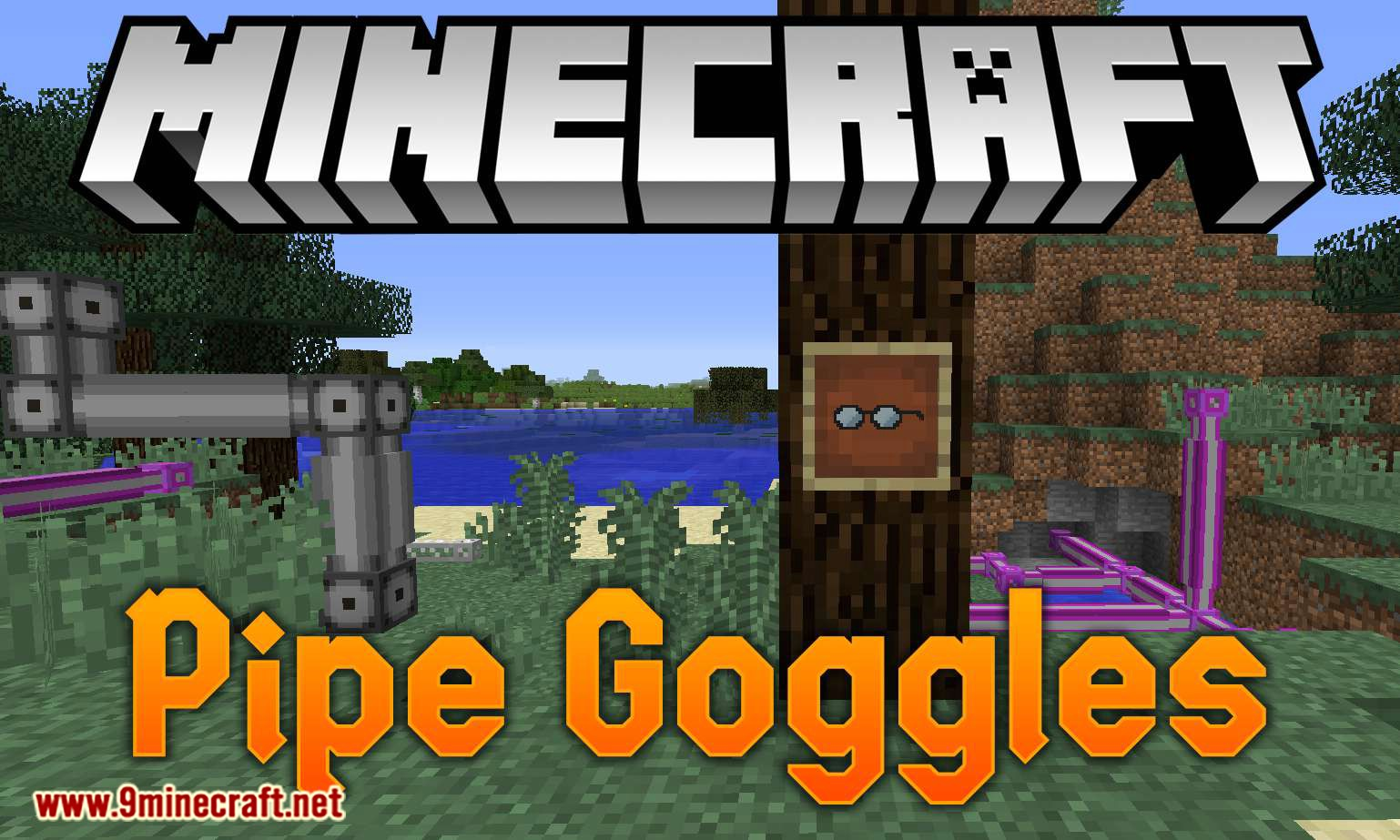 Pipe Goggles mod for minecraft logo - How To Install Minecraft Hacks - Free Game Hacks