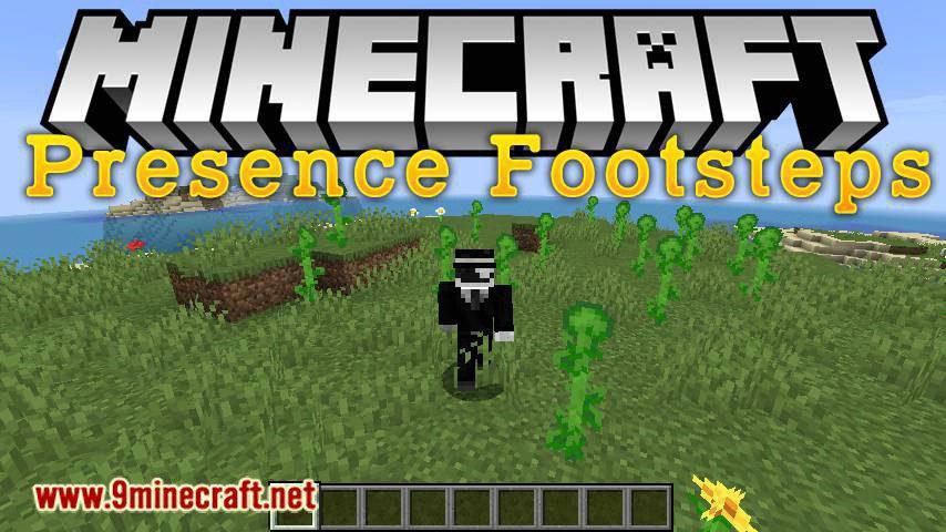 Presence Footsteps mod for minecraft logo
