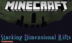Stacking Dimensional Rifts mod for minecraft logo