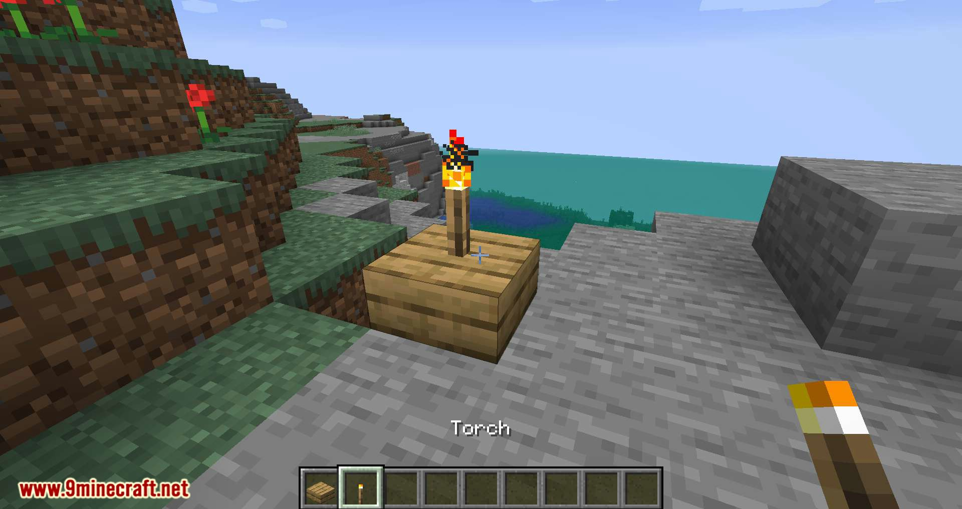 Torch Slabs Mod for minecraft 03
