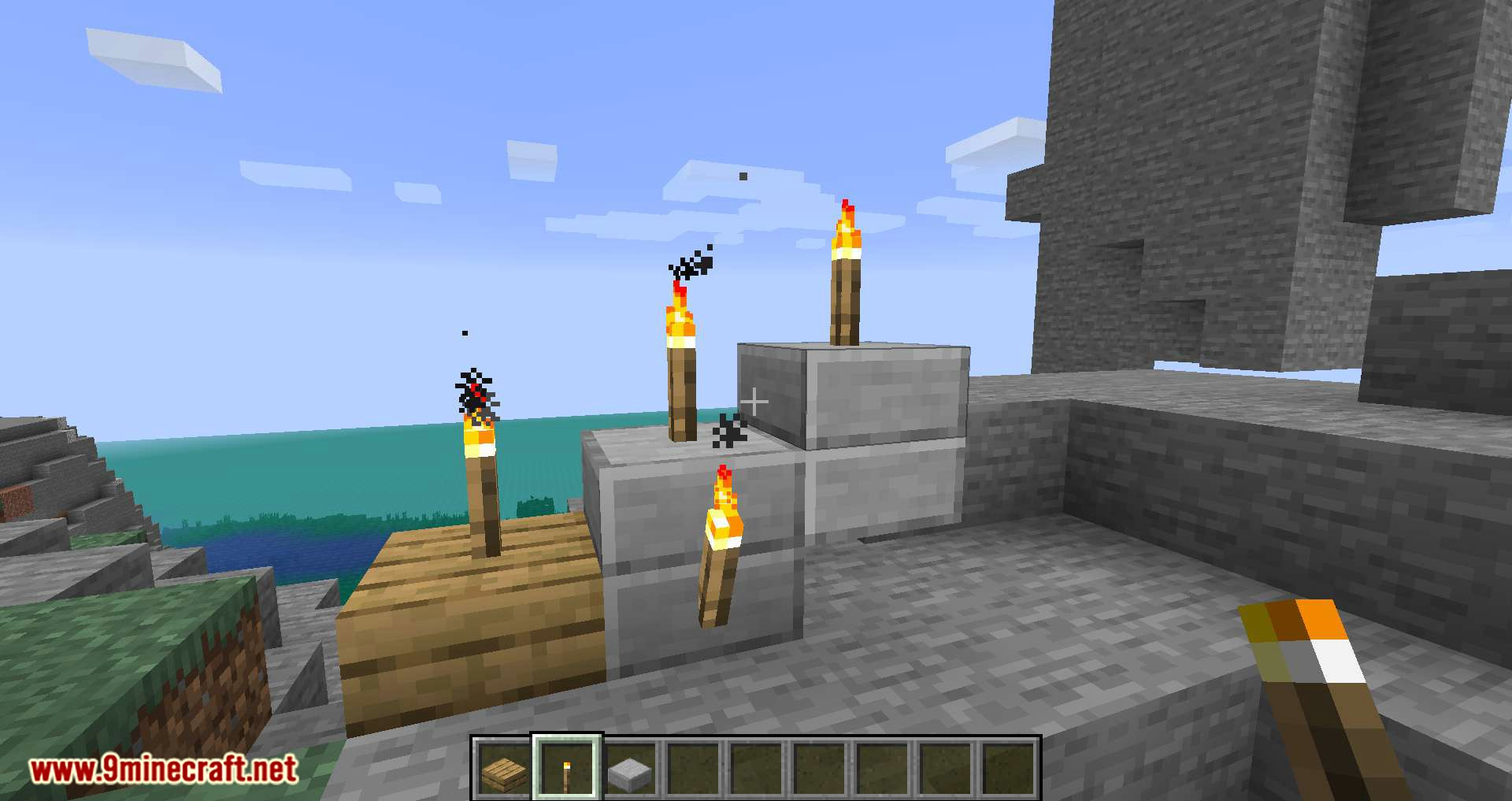 Torch Slabs Mod for minecraft 04