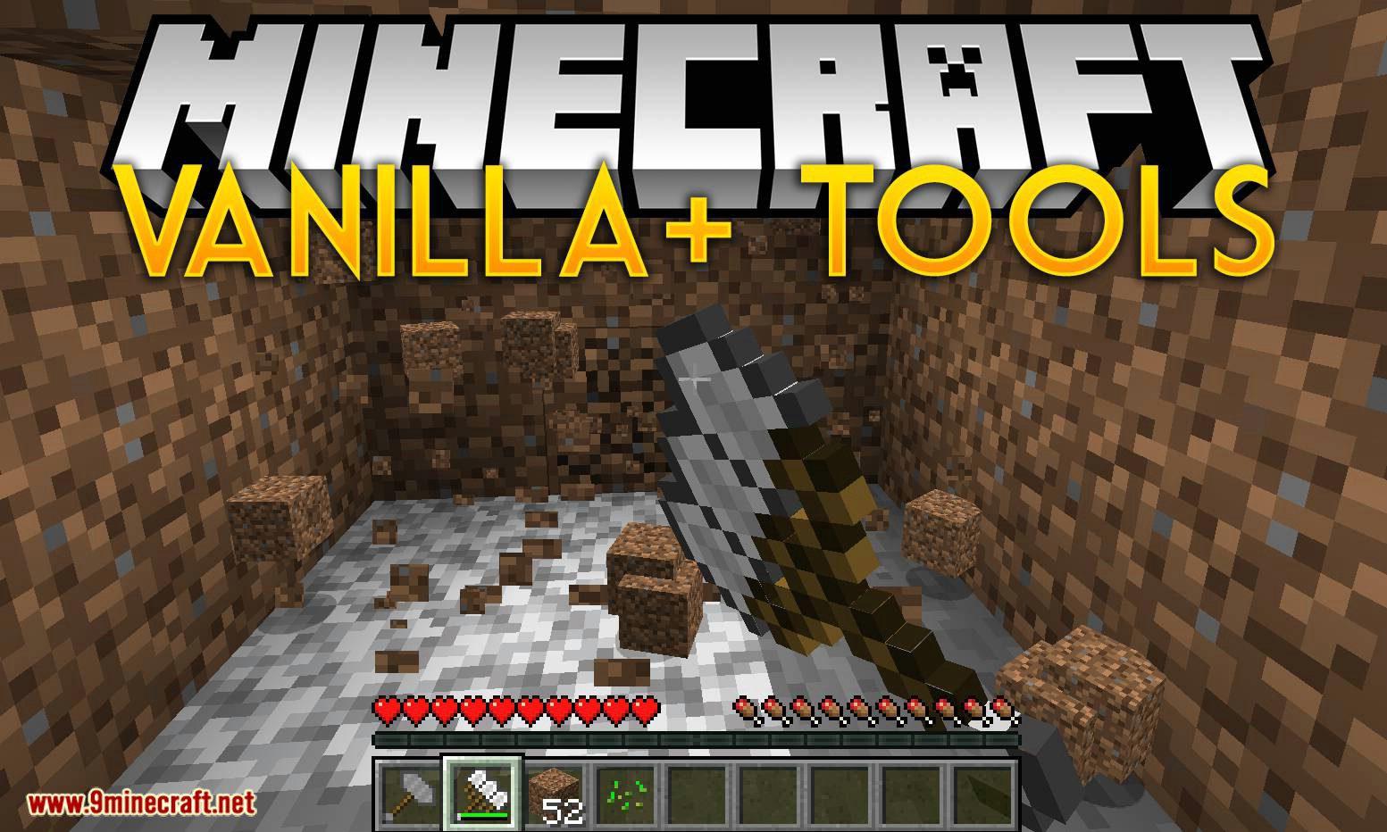 Vanilla Plus Tools Mod for minecraft logo