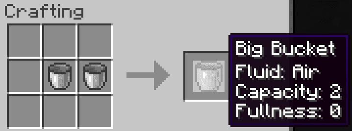Big Buckets mod for minecraft 21
