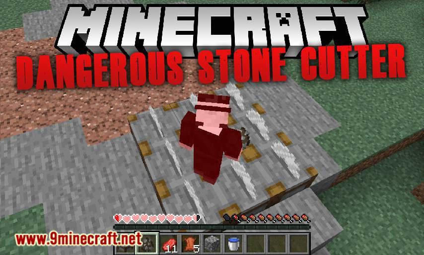 Dangerous Stone Cutter mod for minecraft logo