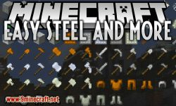 Easy Steel and More mod for minecraft logo