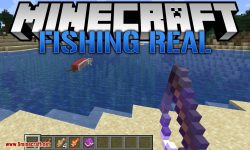 Fishing Real mod for minecraft logo