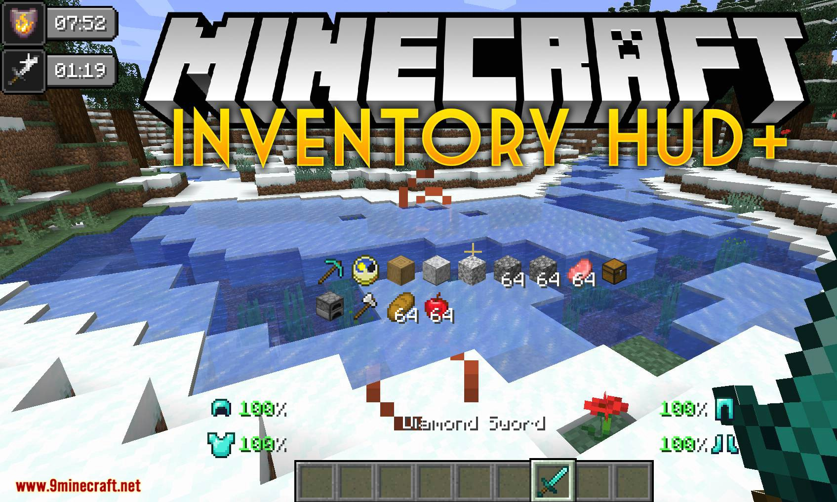 Inventory HUD+ mod for minecraft logo