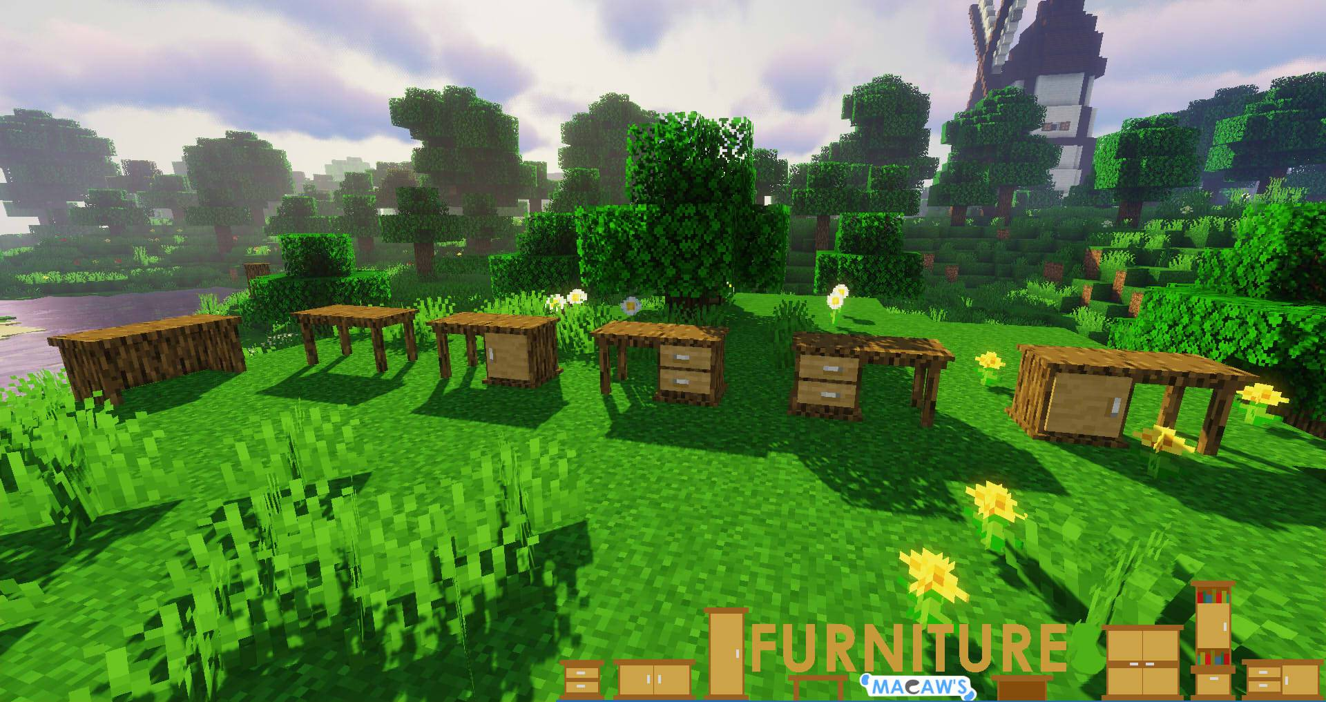 Macaw_s Furniture mod for minecraft 28