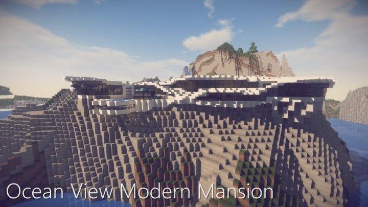 Ocean View Modern Mansion Map 1 14 4 For Minecraft 9minecraft Net