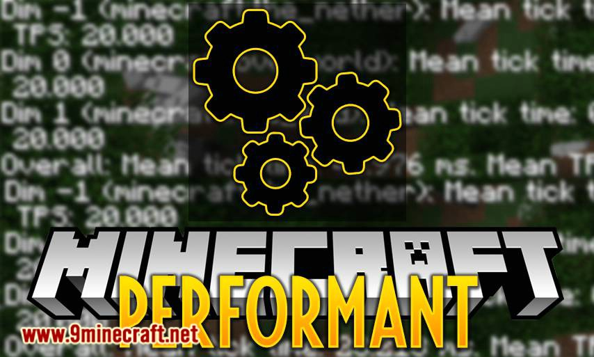 Performant mod for minecraft logo