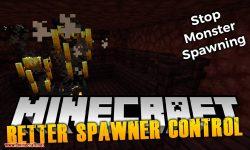 Better Spawner Control mod for minecraft logo