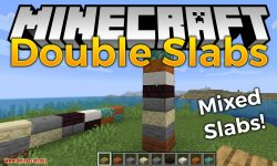 Double Slabs mod for minecraft logo