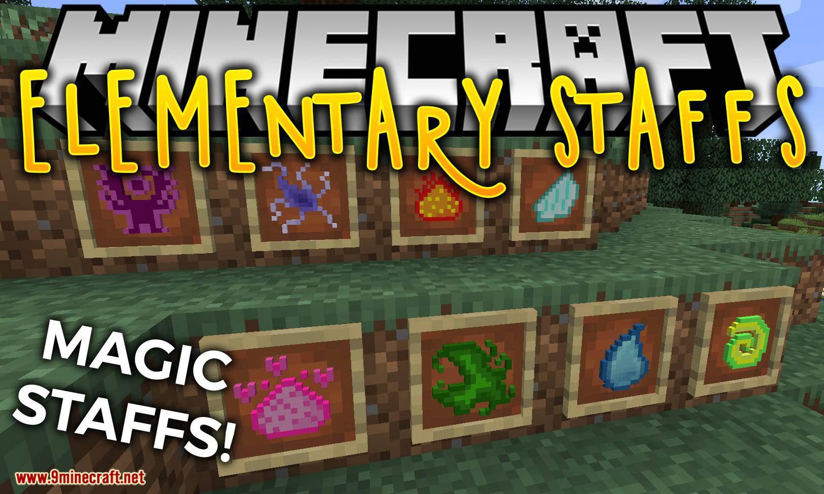 Elementary Staffs mod for minecraft logo